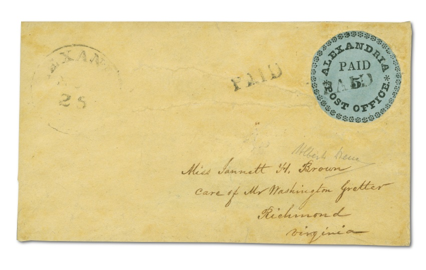 The Alexandra Blue Boy on its cover - the most valuable postal cover in U.S philatelic history (Image: H.H Harmer)
