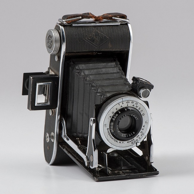 Gackenbach's camera, which he smuggled onboard and used to take the historic photograph