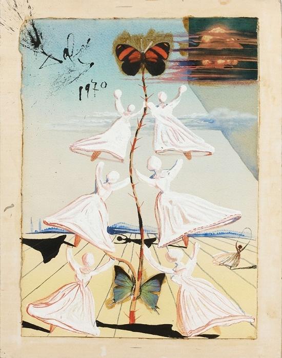 Campanas de azucar by Salvador Dali (1970) Estimate: €50,000 – 70,000