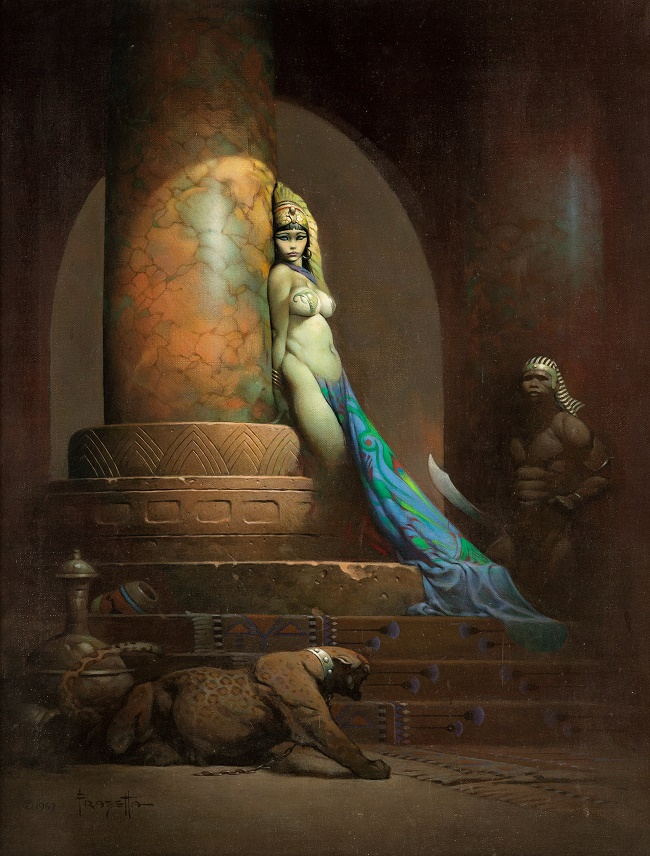 Frazetta's painting is expected to sell for over $5 million when it goes up for sale in Chicago on May 16-18