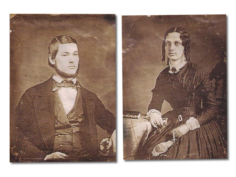 James Wallace Hooff (1825 - 1915) and Jannett Hooff Brown Hooff (unknown-unknown)