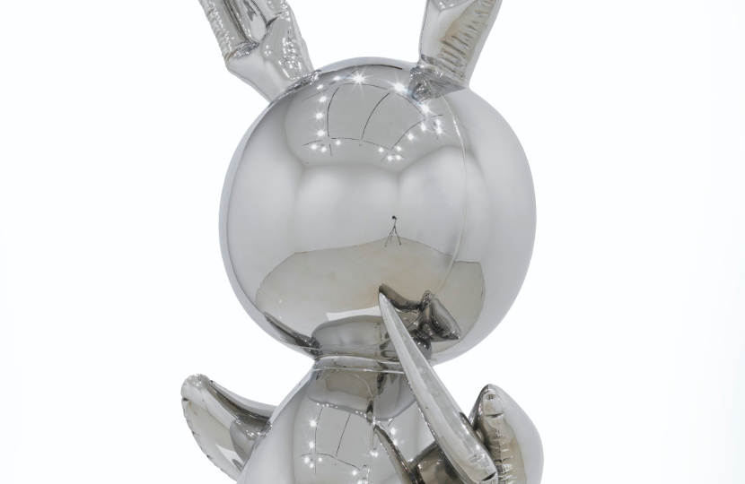 Rabbit by Jeff Koons, sold at Christies for $91 million