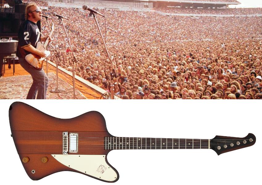 A Gibson Firebird originally owned by Nash's bandmate Stephen Stills