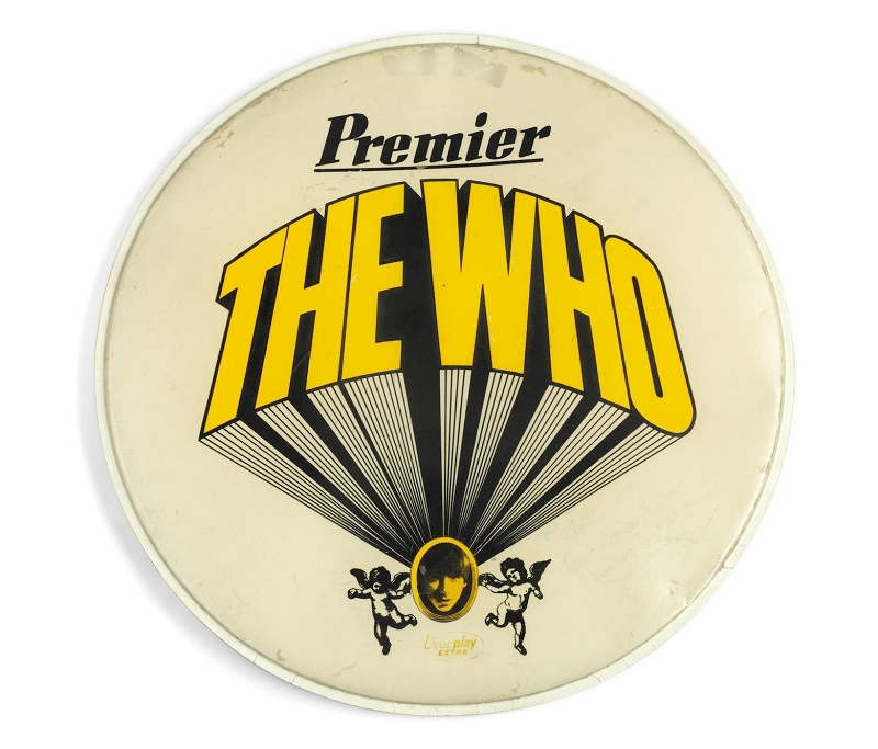 Keith Moon used the drum skin on stage during The Who's first tour of the US in 1967