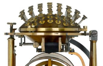 The 1867 Hansen Writing Ball typewriter