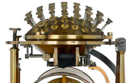 The 1867 Hansen Writing Ball typewriter