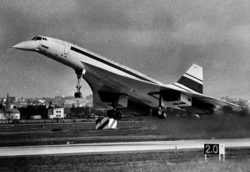 Concorde takes off on its maiden test flight in 1969.