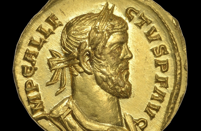 A gold aureus of Allectus coin, which sold at Dix Noonan Webb for £552,000