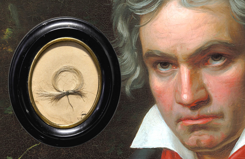 beethoven's hair to auction at sotheby's