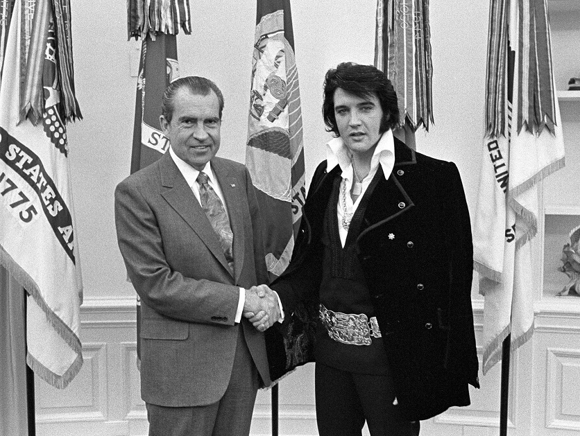 When Elvis met Nixon in the White House Oval Office on December 2, 1970.