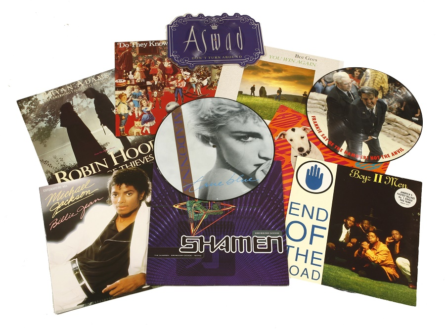 "The collection also spans the changes in vinyl record formats, such as the development of picture singles and the boom in 12"" records"
