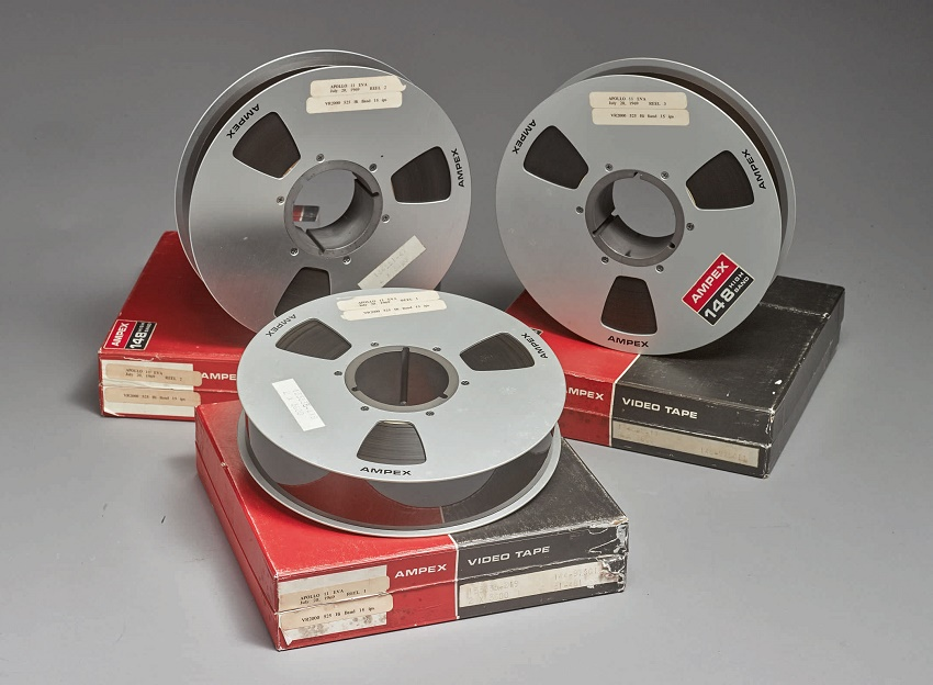 The three video tapes contained raw, unedited footage of the entire Apollo 11 moonwalk recorded directly from the lunar surface by NASA Mission Control