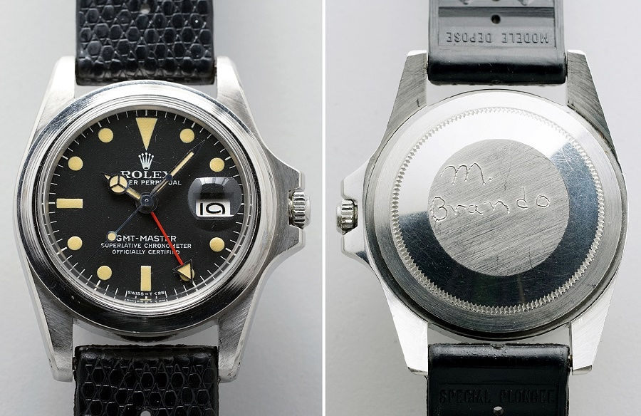 Brando engraved his own name on the caseback, before gifting the watch to his daughter  Petra Brando Fischer in 1995 (Images: Phillips)