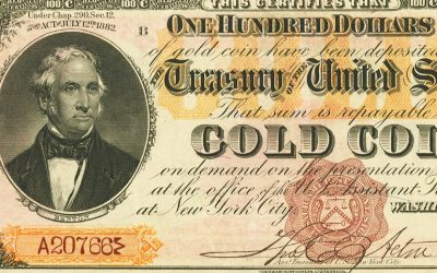 1882 $100 Gold Certificate worth $1 million up for auction