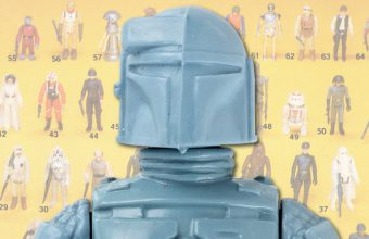 rocket-firing Boba Fett Star Wars figure for auction at Hake's Americana