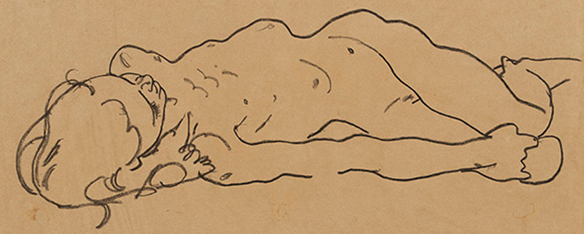 'Reclining Nude Girl' by Egon Schiele, circa 1918, discovered in a New York thrift store and now valued at up to $200,000