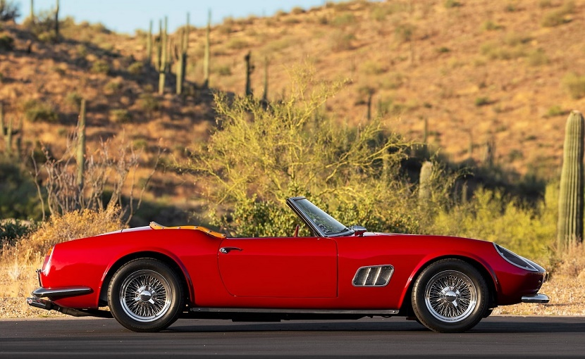 A genuine Ferrari 250 GT SWB California Spider will set you back millions - but the replica is expected to fetch a more reasonable $300,000 - $400,000