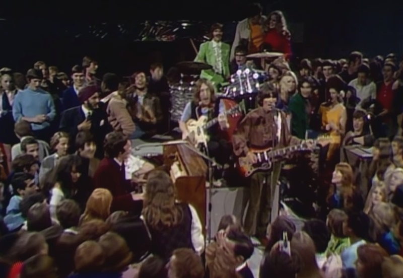 The Beatles performing Hey Jude in the promotional film for the single, shot at Twickenham Studios in September 1968