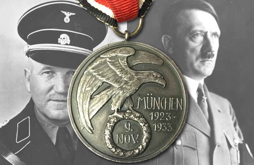 A medal awarded to Adolf Hitler's bodyguard for saving his life sold for a record price at Hanson's Auctioneers