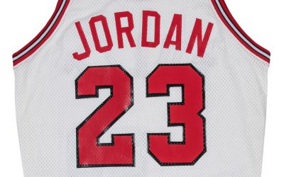 Michael Jordan's first Chicago Bulls jersey for sale at Goldin Auctions
