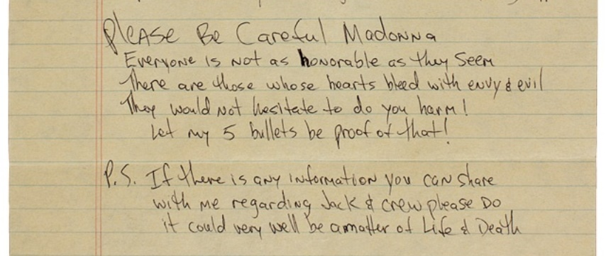 Shakur's letter also included an eerie prophecy of potential violence, which came true just 12 months later when he was murdered in Las Vegas
