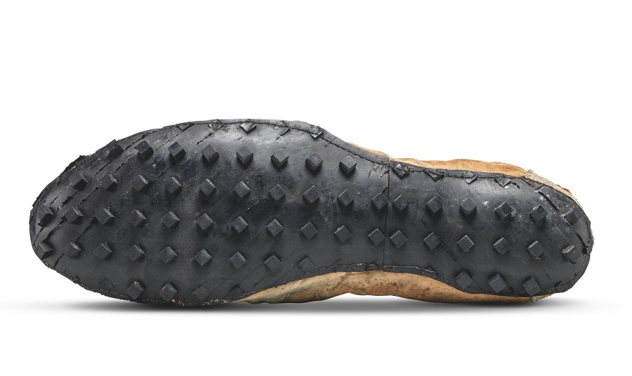 The shoe's innovative rubber 'Waffle' soles gave runners superb traction on a variety of surfaces