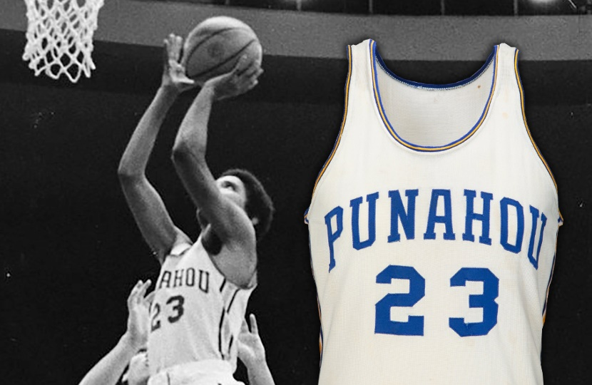 Barack Obama's high school basketball jersey up for auction at Heritage