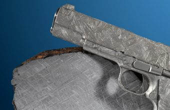 A pair of pistols carved from a meteorite will be offered at Heritage Auctions on July 20