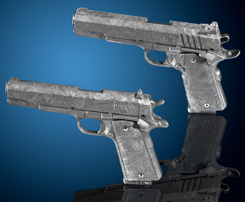 The  two unique meteorite pistols are estimated to sell for up to $1.5 million in Dallas on July 20