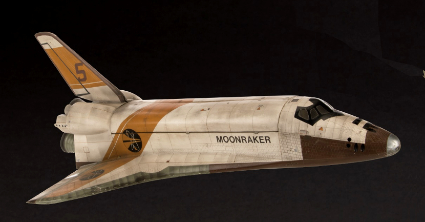 A space shuttle filming miniature from Moonraker, estimated at $80,000 - $120,000 (Image: Profiles in History)