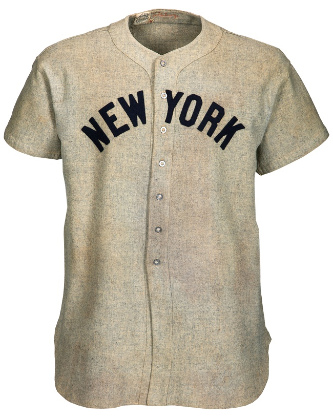 Lou Gehrig's 1937 New York Yankees game-worn road jersey, estimated at $2,000,000+