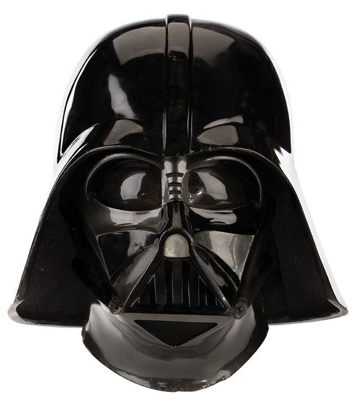 A Darth Vader mask and helmet, worn on screen by David Prowse in The Empire Strikes Back