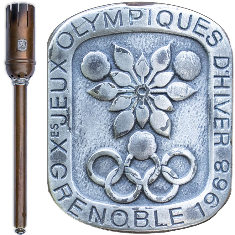 One of only 33 torches made for the 1968 Grenoble Winter Olympics