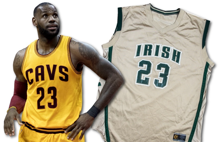new concept b31a9 0674a LeBron James' high school basketball jersey could fetch $500,000