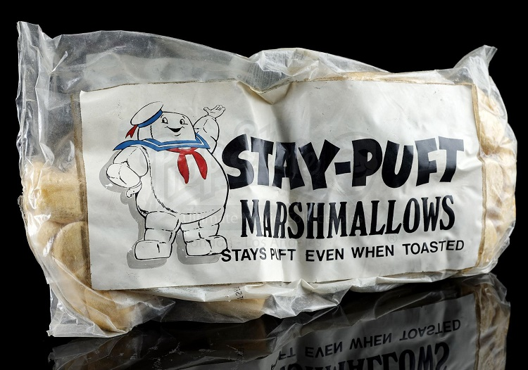 A production-made pack of Stay-Puft Marshmallows, which sold for £2,460 (Image: Prop Store)