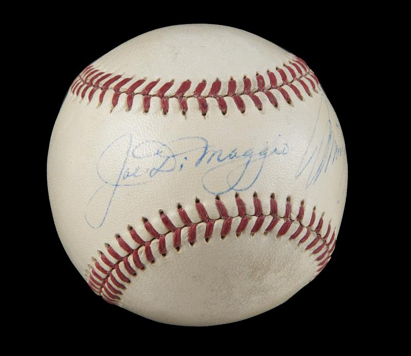 The ball is crisply signed by the couple in the same panel, and is believed to be one of the world's finest-known examples (Image: Julien's Auctions)