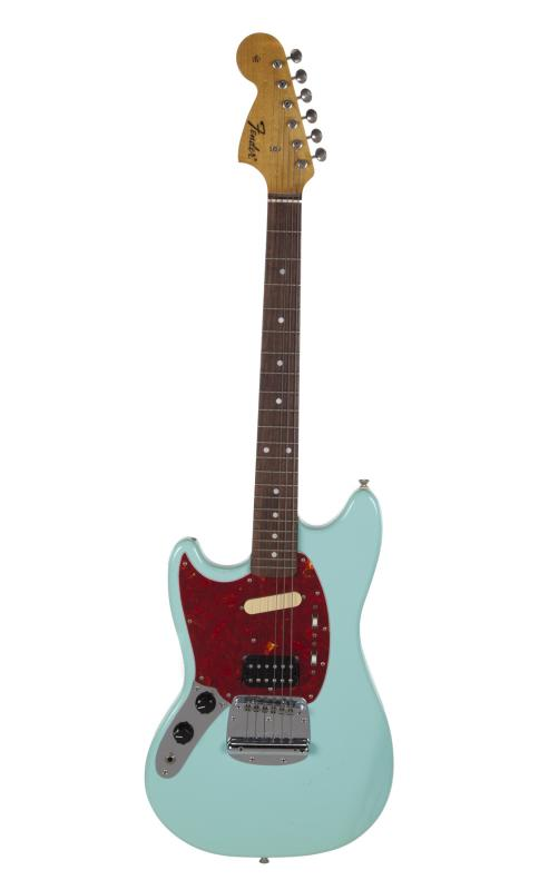 Kurt Cobain's custom-made, left-handed Fender Mustang was one of his favorite guitars, and sold for $340,000 (Image: Julien's)