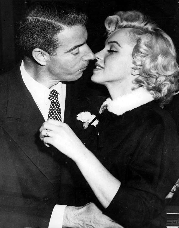 Marilyn Monroe and Joe DiMaggio on their wedding day in January 1954 (Image: Wikipedia)