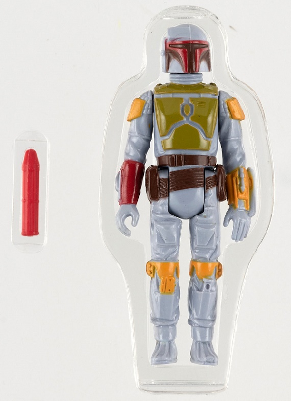 A 1979 unreleased rocket-firing Boba Fett prototype figure, estimated at $200,000 - $500,000 (Image: Hake's Auctions)