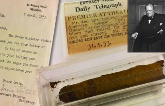 winston churchill's half-smoked cigar up for auction at hanson's