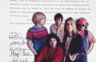 The Grateful Dead's first recording contract is up for sale at Julien's Auctions