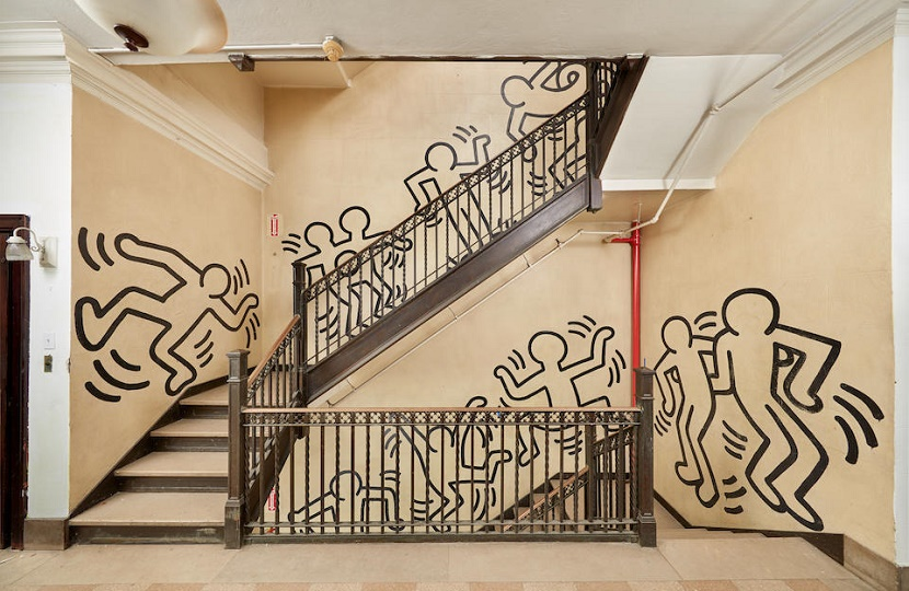 Keith Haring's Grace House mural to auction at Bonhams in New York