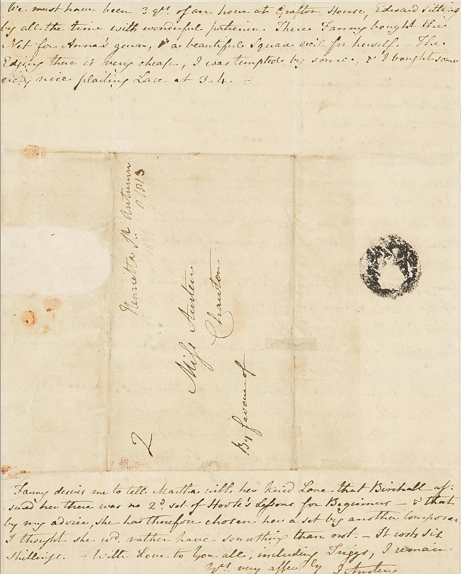 Approximately 161 Jane Austen letters remain in existence today, with most in the collections of museums and institutions (Image: Bonhams)