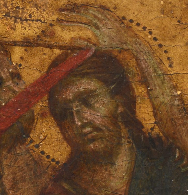 The painted wooden panel, which measures just 26cm by 20cm, is one of only 12 works by Cimabue known to exist (Image: Interencheres)
