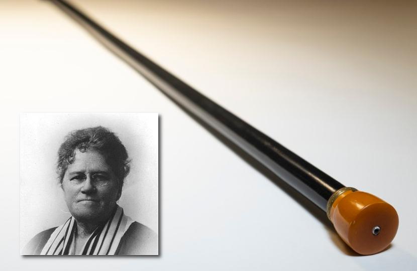 Titanic survivor Ella Holmes White and her light-up walking cane, estimated at £80,000 - £120,000.