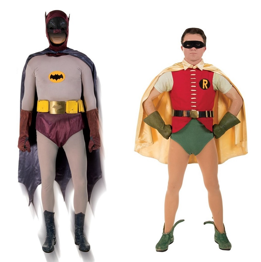 The original Batman and Robin costumes as worn by Adam West and Burt ward, estimayed at $150,000 - $200,000 (Image: Profiles in History)