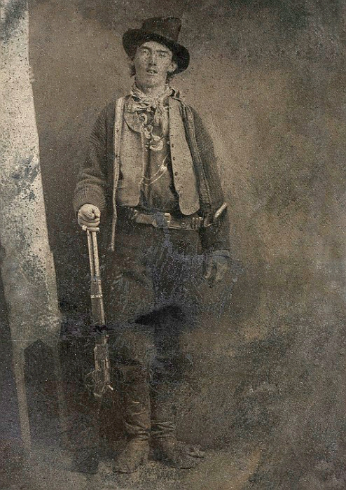 The only-known genuine photograph of Billy the Kid, which sold in 2011 for $2.11 million.