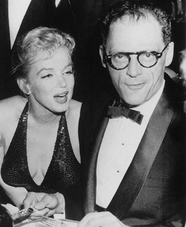 "The marriage between Monroe and Miller surprised many of her fans, and led to the famous headline ""Egghead Weds Hourglass"" (Image: Wikipedia)"