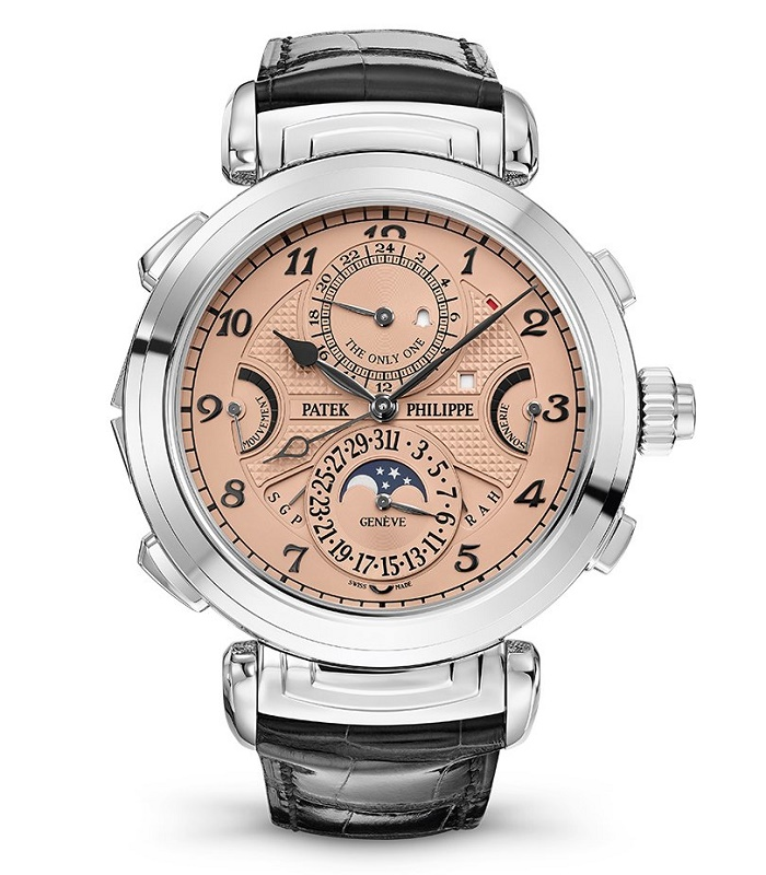 The watch featured 20 complications and a reversible dial, with one side finished in black ebony and the other in rose gold (Image: Christie's)