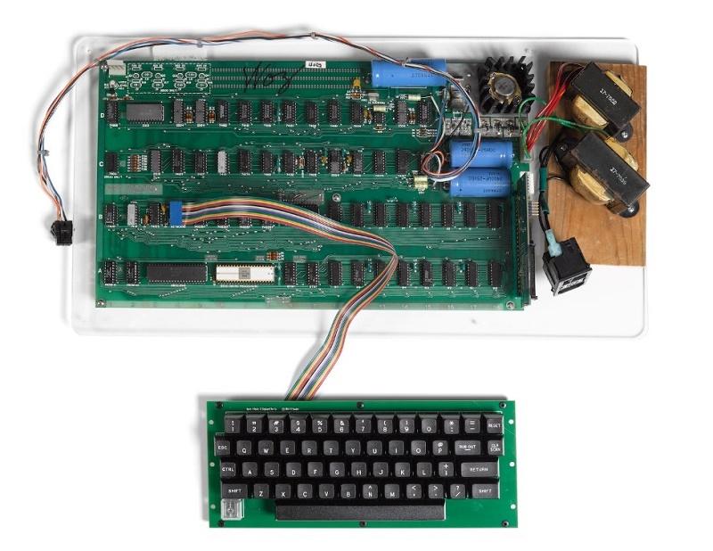 The original Apple-1, used by Apple Inc. in the development of the prototype Apple-II (Image: Bonhams)